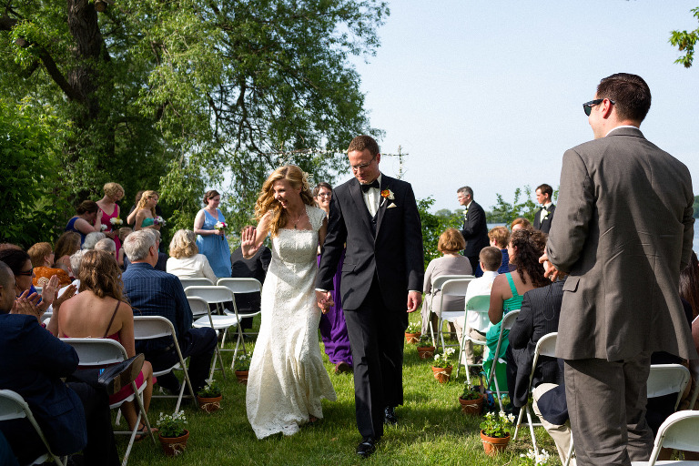 River Mill wedding in Kingston outdoor ceremony