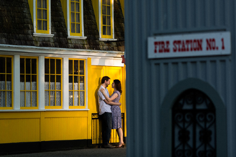 Toronto Island engagement photos at Fire Station No. 1