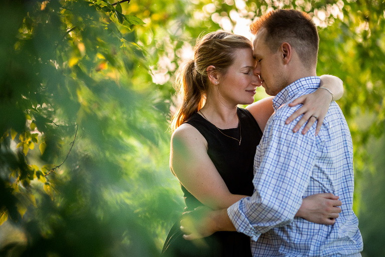 Barriefield Rock Garden engagement of Marie-Andrée and Patrick